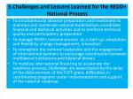 5 challenges and lessons learned for the redd national process