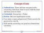 concepts cont