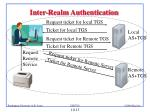 inter realm authentication