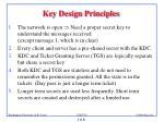 key design principles