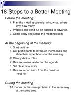 18 steps to a better meeting