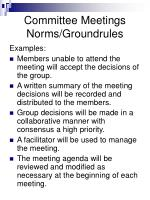 committee meetings norms groundrules