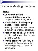 common meeting problems5