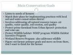 main conservation goals