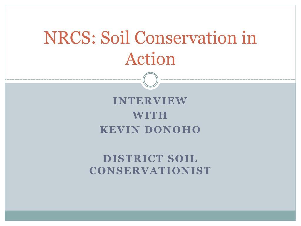 nrcs soil conservation in action l.