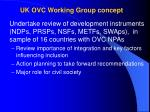 uk ovc working group concept