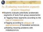 5a evaluating translation segments of peers tagging