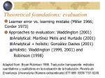 theoretical foundations evaluation