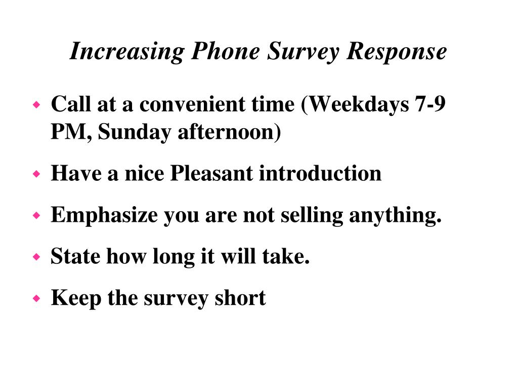 Call at a convenient time (Weekdays 7-9 PM, Sunday afternoon)