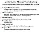 systematic measurement error