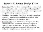 systematic sample design error