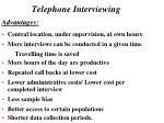 telephone interviewing12