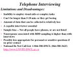 telephone interviewing13
