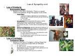 law of sympathy cont