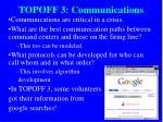 topoff 3 communications