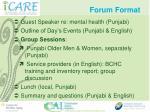 forum format