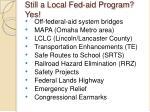 still a local fed aid program yes
