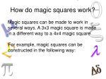 how do magic squares work