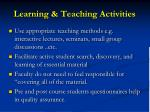 learning teaching activities
