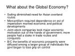 what about the global economy
