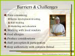 barriers challenges
