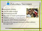outcomes successes