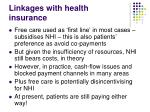 linkages with health insurance