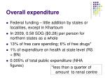 overall expenditure