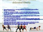 effect of weight loss on intra abdominal obesity