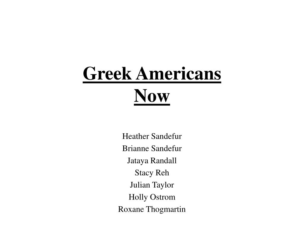 greek americans now l.
