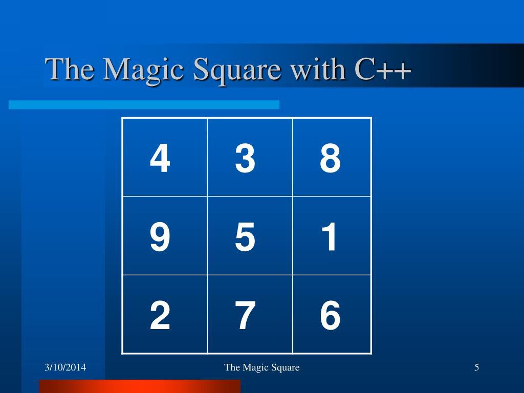 The Magic Square with C++