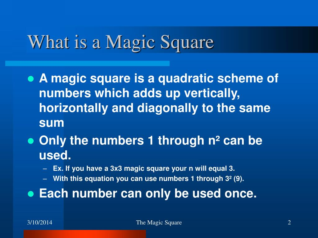 What is a Magic Square
