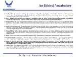 an ethical vocabulary