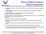 what is ethical conduct what is character