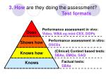3 how are they doing the assessment test formats
