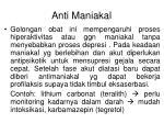 anti maniakal