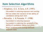 item selection algorithms5