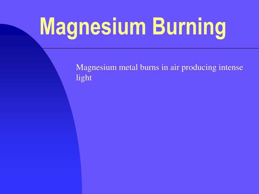 magnesium burning l.