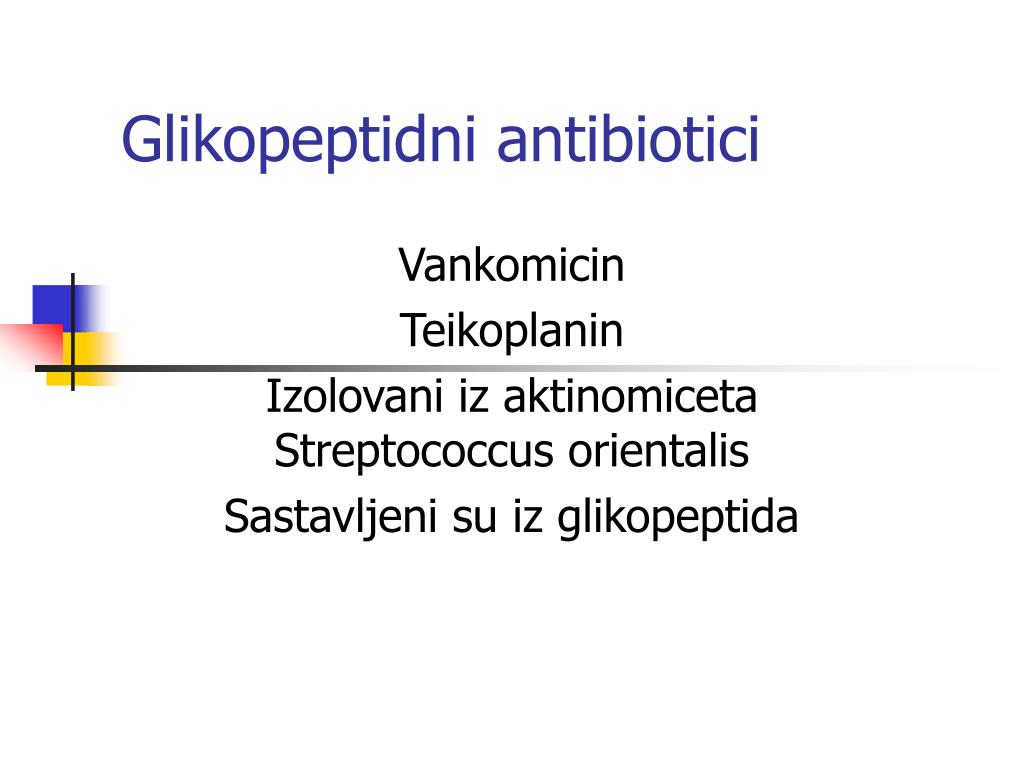 glikopeptidni antibiotici l.
