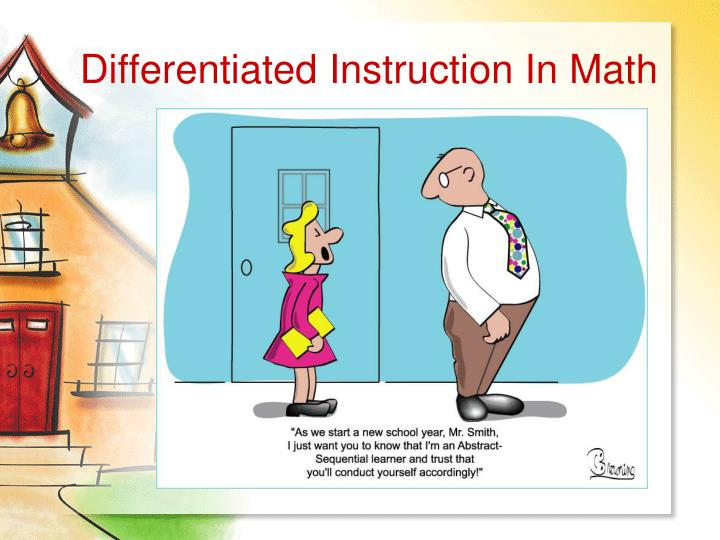 differentiated instruction in math n.