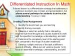 differentiated instruction in math35
