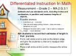 differentiated instruction in math38