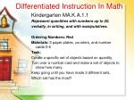 differentiated instruction in math45