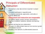 principals of differentiated instruction