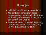 hosea a
