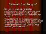 nabi nabi pembangun