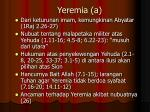 yeremia a