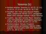yeremia b