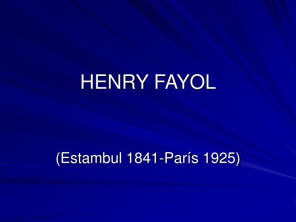 henry fayol l.