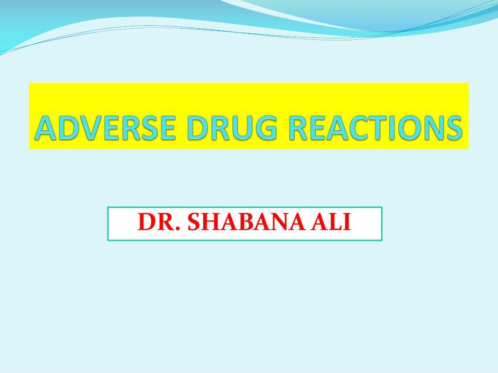 adverse drug reactions l.